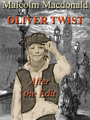 ebook cover for Oliver Twist - after the edit